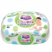 Merries Салфетки влажные детские, 64 шт (Контейнер)