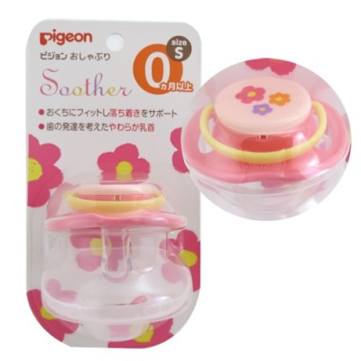 PIGEON Пустышка Цветочек 0+ мес размер S купить оптом