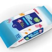PIGEON Салфетки влажные детские с антибактериальным эффектом, 20 шт