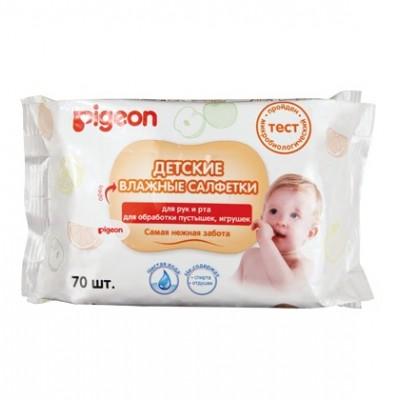 Оптом PIGEON Салфетки влажные для рук и рта, детские 70 шт