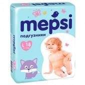 Подгузники Mepsi L (9-16 кг) 18 шт
