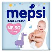 Подгузники Mepsi NB 0-6 кг 90 шт