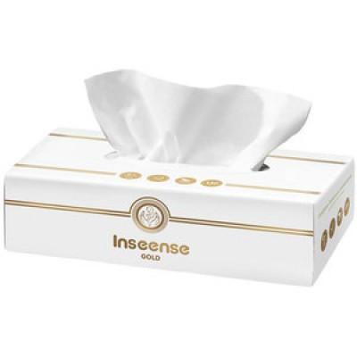 Салфетки бумажные белые 2 слоя 150 шт картонная коробка Inseense оптом