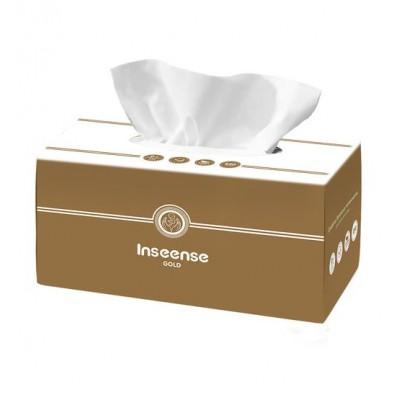Салфетки бумажные белые 2 слоя 250 шт картонная коробка Inseense оптом