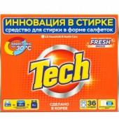 TECH Средство для стирки в листах fresh breeze 36 шт
