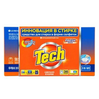 Оптом TECH Средство для стирки в листах fresh breeze 36 шт