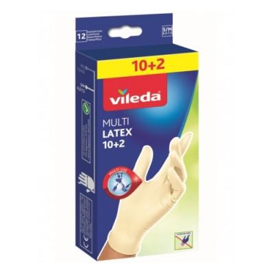ВИЛЕДА одноразовые перчатки с бальзамом 10 шт+2 шт в упаковке S/M оптом