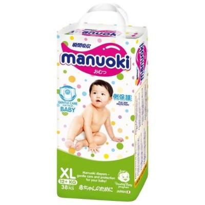 Manuoki  трусики, XL (12+кг), 38 шт оптом