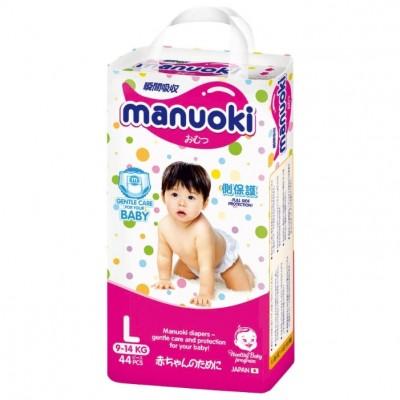 Оптом Manuoki подгузники, L (9-14 кг), 44 шт