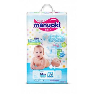 Manuoki подгузники M (6-11 кг), 56 шт купить оптом