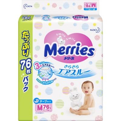 Merries Джамбо подгузники M (6-11 кг), 76 шт оптом