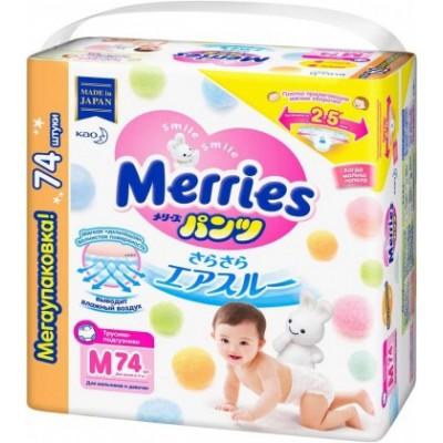 Merries Джамбо трусики M (6-10 кг), 74 шт купить оптом