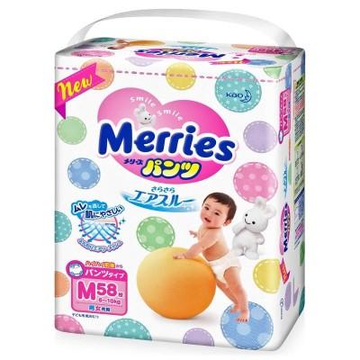 Оптом Merries трусики M (6-10 кг), 58 шт