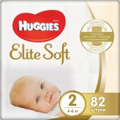 Подгузники Huggies Elite Soft 2 (4-6 кг) 82 шт